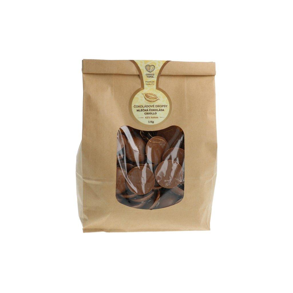 Mléčná čokoláda Chocotopia CRIOLLO 42% dropsy 1kg