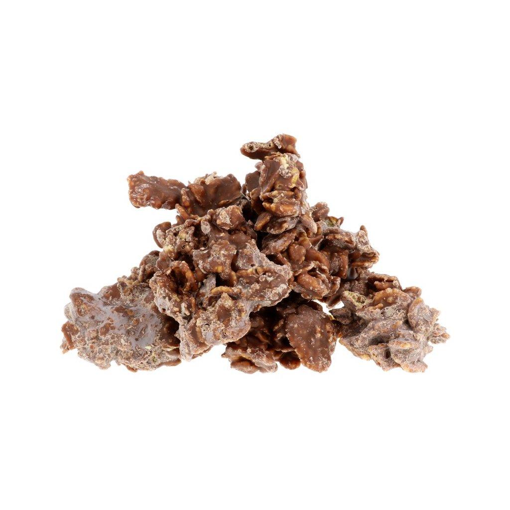 Hrudky cornflakes - mléčné 36% BEZOBAL