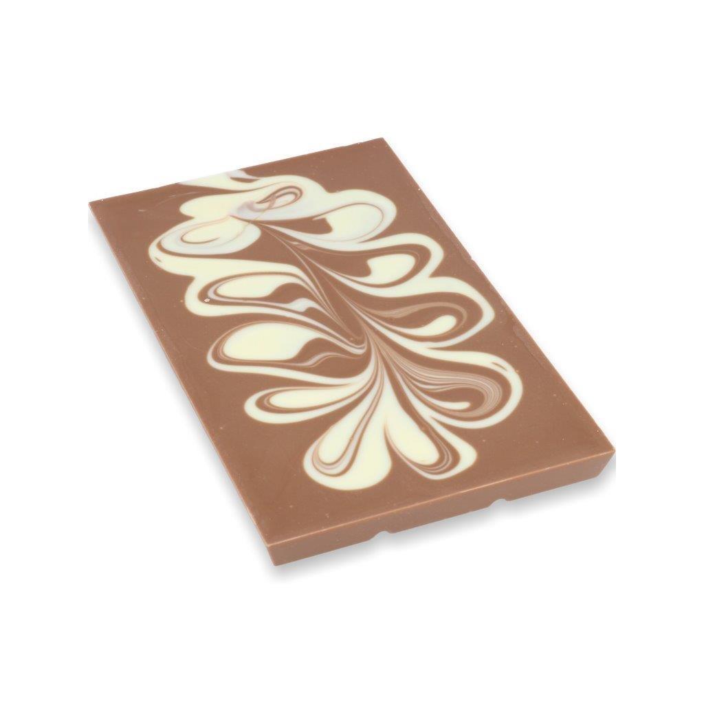 Čokoládová tabulka 100g – bílý mramor