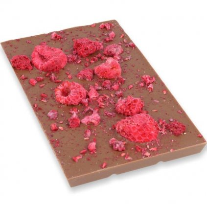 čokoládová tabulka 100g - mrazem sušené maliny