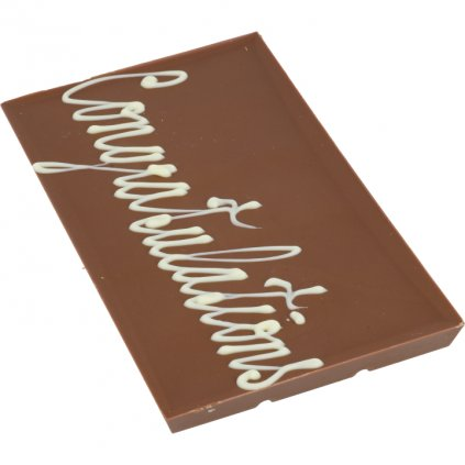 "čokoládová tabulka 100g - text ""Congratulations"""