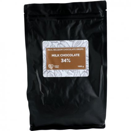 Mléčná čokoláda dropsy 34%