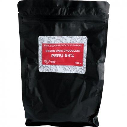 Origin hořká čokoláda Peru dropsy 64%
