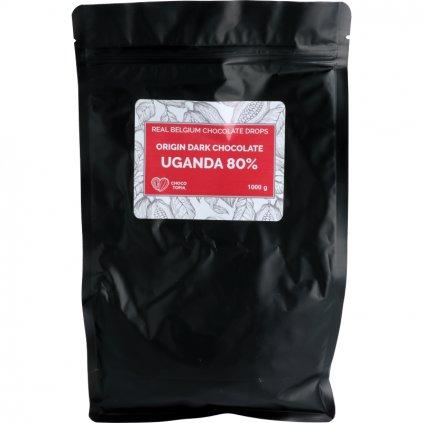 Origin hořká čokoláda Uganda dropsy 80%