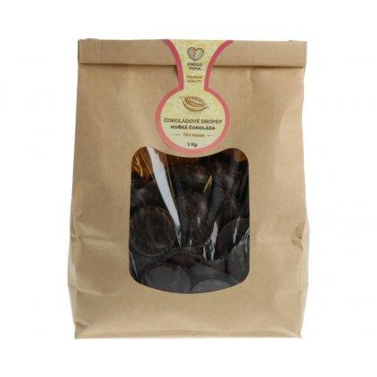 Hořká čokoláda Chocotopia 72% dropsy 1kg
