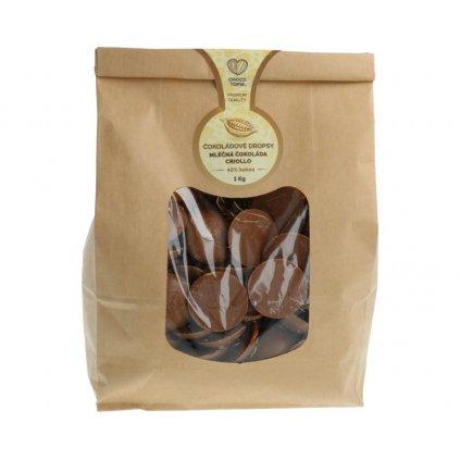 Milk chocolate drops Chocotopia CRIOLLO 42% 1kg