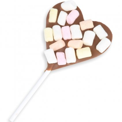 Heart lolly 30g - marshmallow