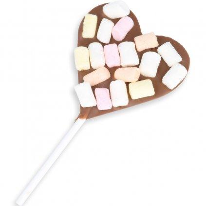 Srdíčkové lízátko 30g - marshmallow