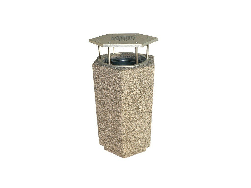 betonovy kos sestihranny se striskou s popelnikem male