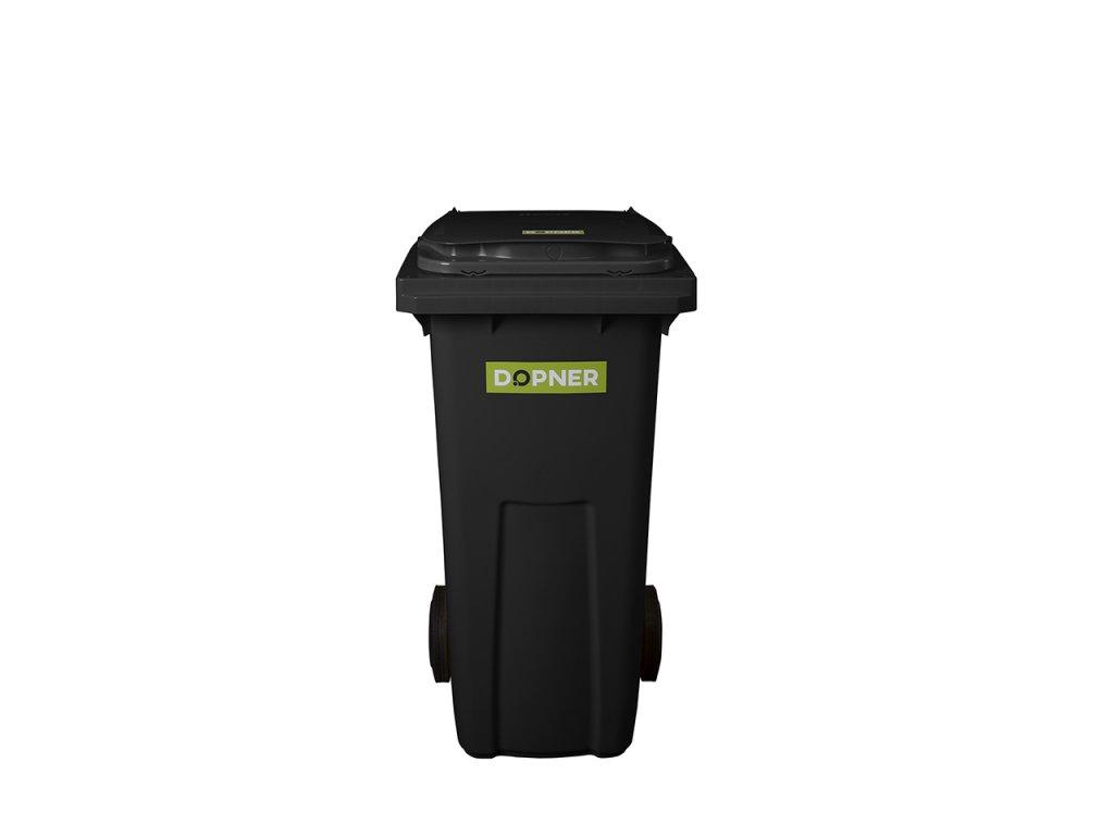 černá plastová popelnice 120l