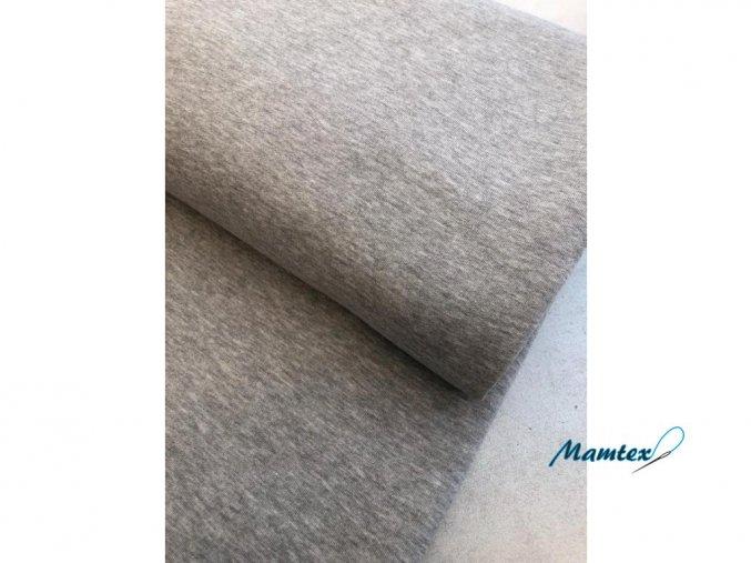 Teplákovina nepočesaná MELÉ 92 % bavlna / 8 % elastan (Barva Melé tmavé)
