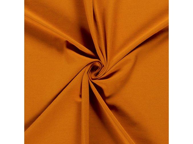 Teplákovina - GOTS - 95 % bavlna, 5 % elastan 225 g/m2 - 27 barev (Barva Světle petrolejová)