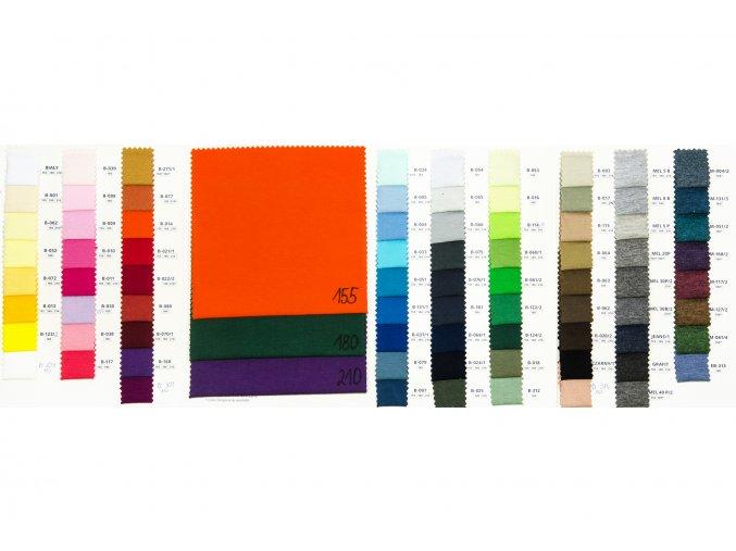 Bavlněný úplet jednolíc - 100 % bavlna - 155 g/m2 (Barva MELANŽ 5B)