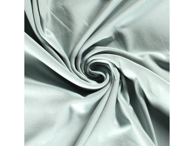 Bavlněný úplet jednolíc GOTS - 95 % bavlna / 5 % elastan 200 g/m - 20 barev (Barva Mint)