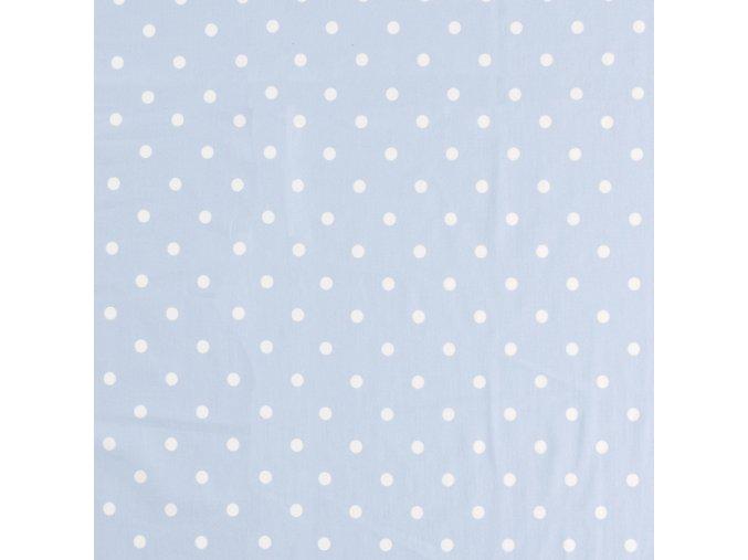 Bavlněný úplet jednolíc puntík - 17 barev