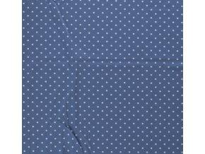 Bavlněný úplet jednolíc puntíky - 18 barev