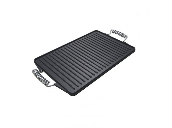 85 premium barbecue reversible cast iron griddle