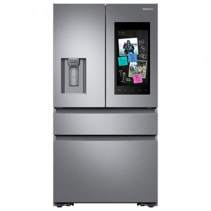 fingerprint resistant stainless steel samsung french door refrigerators rf23m8570sr 64 1000