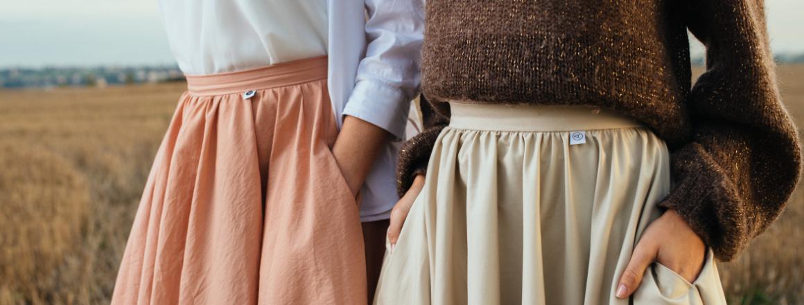 Kolové Midi sukně