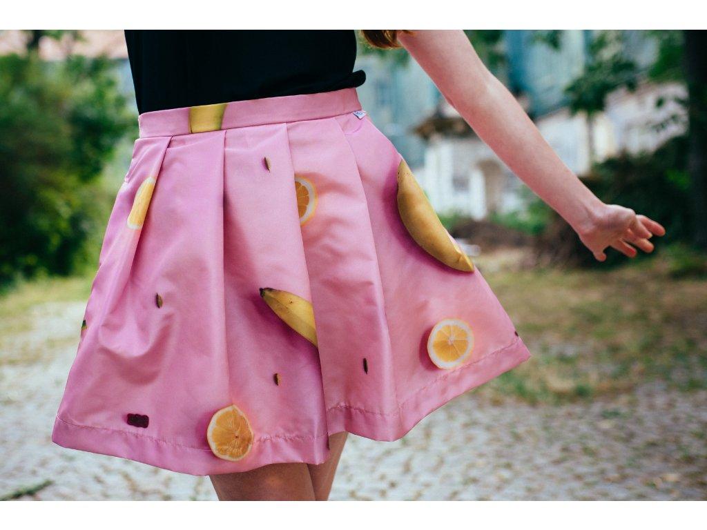 áčková sukně Citrony banány