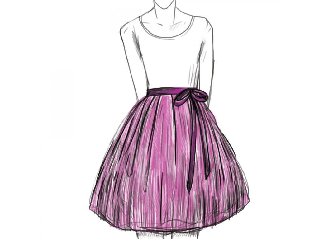 tylová sukně TUTU na objednávku - Akari 56a0ad6cbf