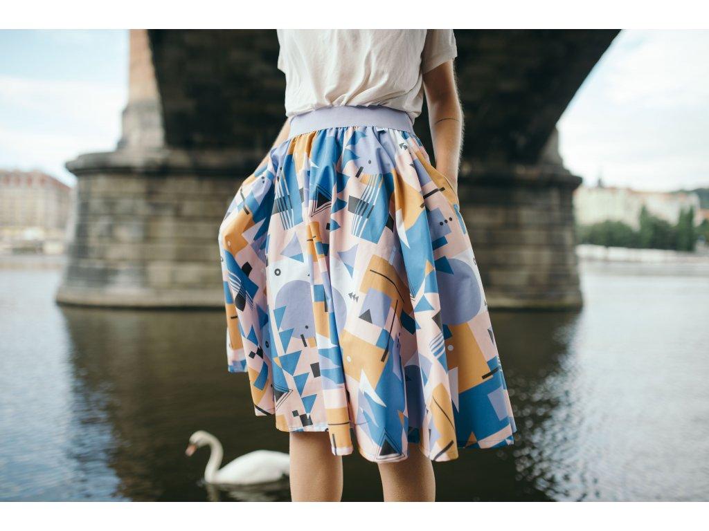 Kolová sukně Bau