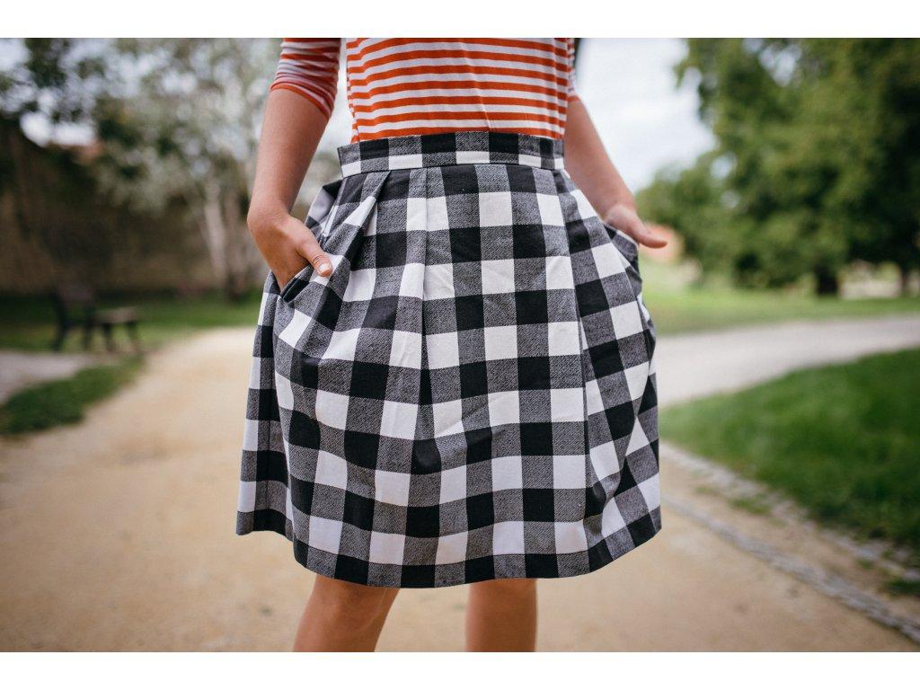 áčková sukně Chess long