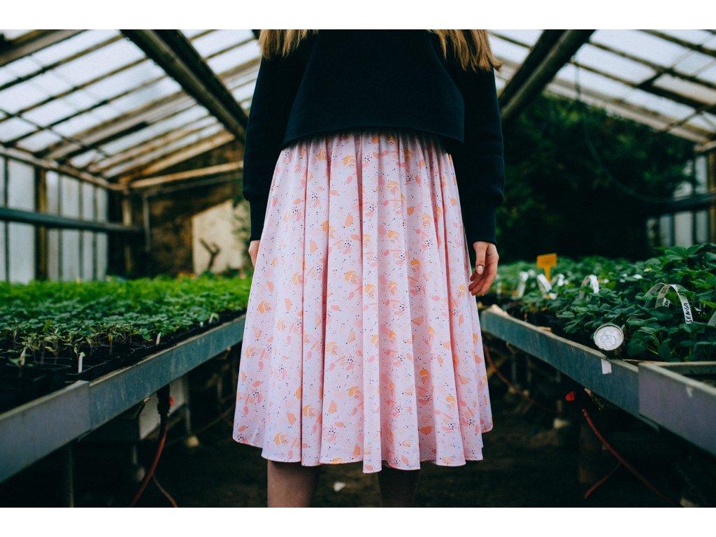 Kolová midi sukně Jaro
