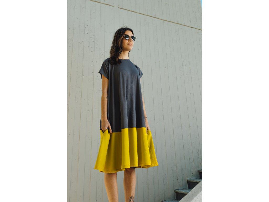 Šaty Nika Anthracite/Kari