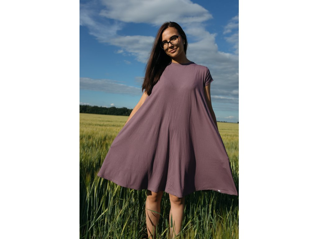 Šaty Nika Mauve