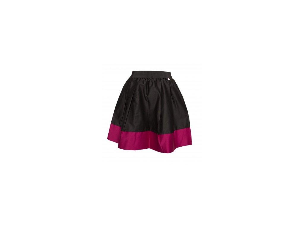 áčková sukně Tricol black s růžovým lemem - Akari c8545b7bba