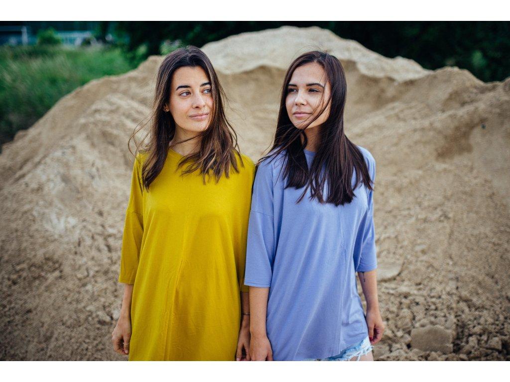 Viskózové oversized tričko Kari