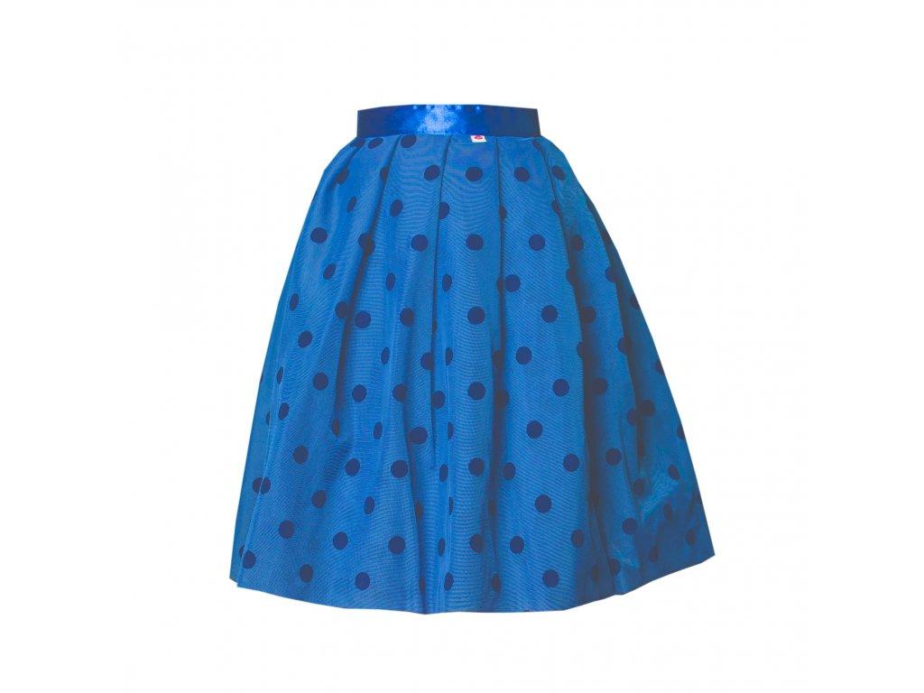 Modrá zavinovací tylová sukně TUTU s velkými puntíky 73a47aef99