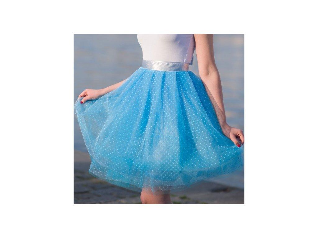 tylová sukně TUTU Superdots blue