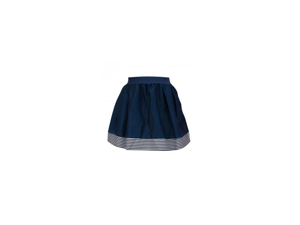 áčková sukně Stripes deep blue s černou gumou