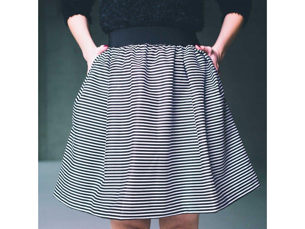 námořnická pruhovaná sukně Hello Sailor s kapsami