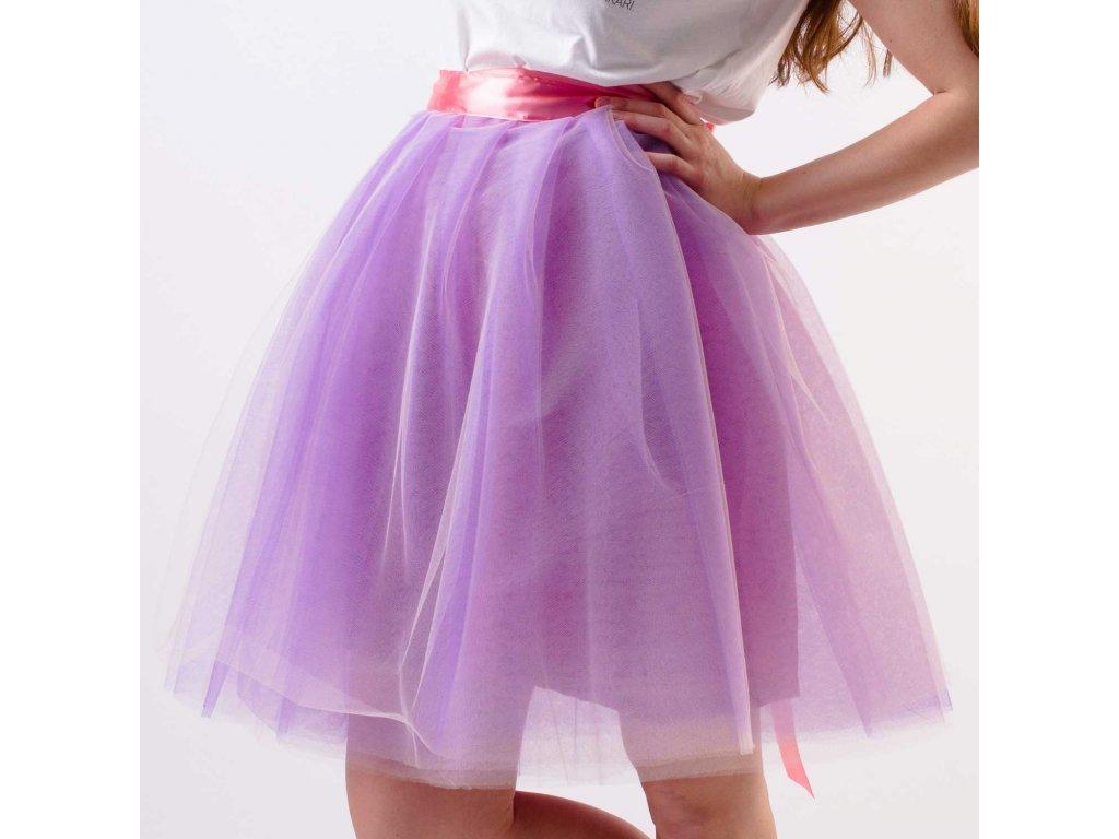 tylová sukně TUTU violet salmon - Akari ee931318f7