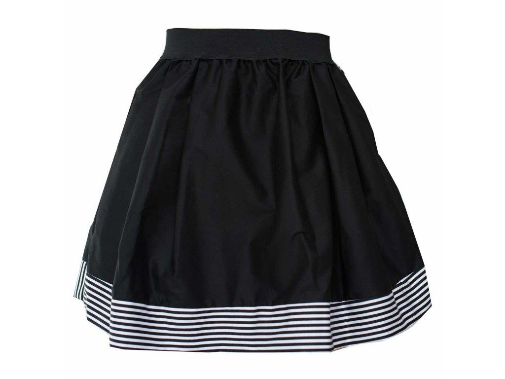 áčková sukně Stripes black s černou gumou