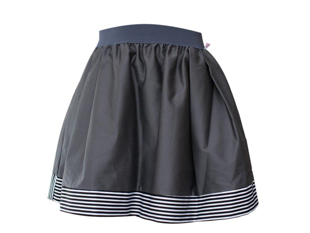 áčková sukně Stripes grey s šedou gumou