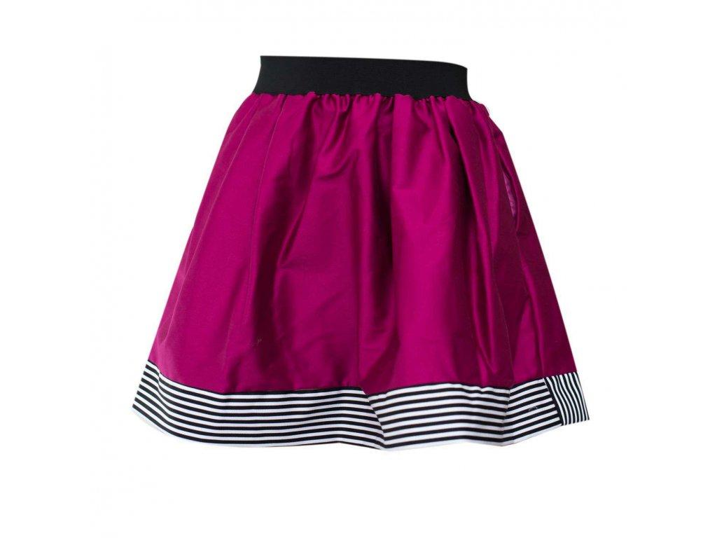 áčková sukně Stripes pink s černou gumou