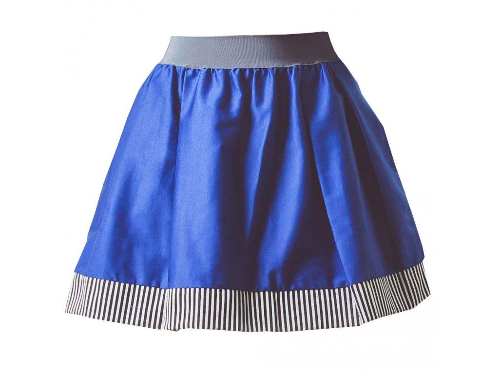 áčková sukně Stripes blue s šedou gumou