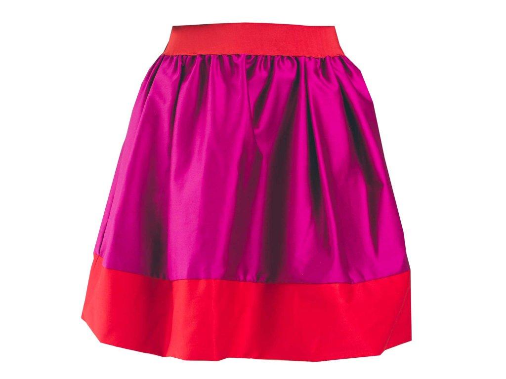 áčková sukně Tricol pink červený lem