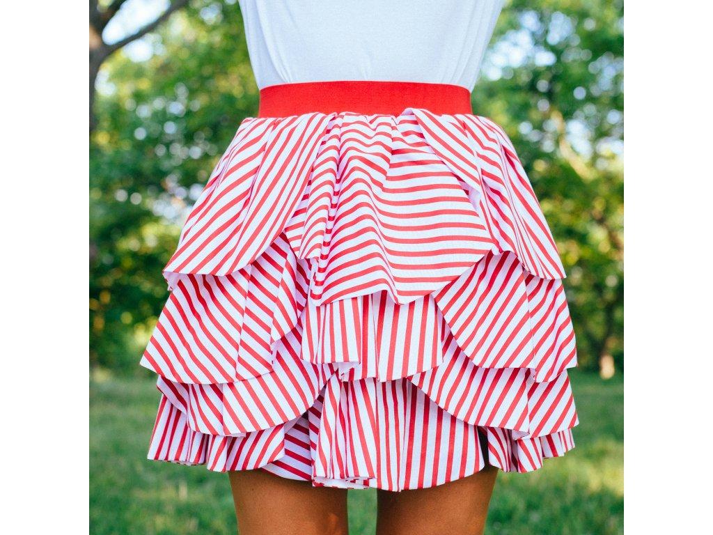 sukně LOLA red stripes