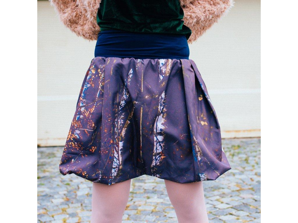 balonová sukně Autumn trees blue