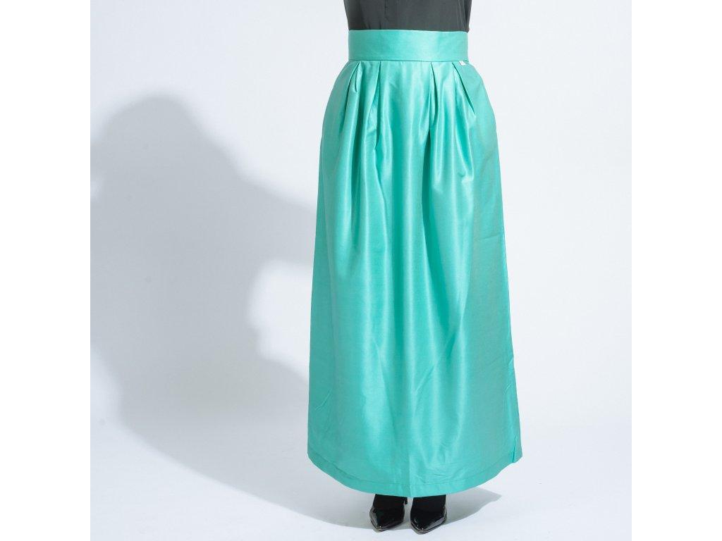 Dlouhá elegantní sukně Katsu green