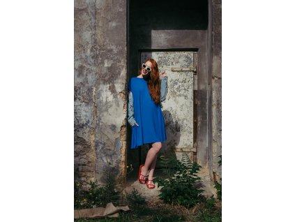 Šaty Nikol modré