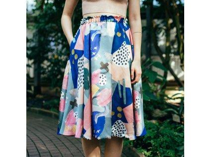 Půlkolová sukně Nana