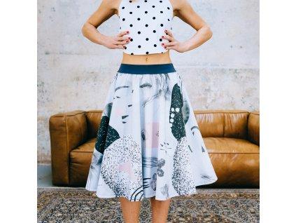 Kolová sukně Summer Geo