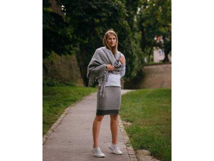 sukně Merino Grey