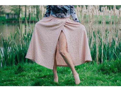 Mušelínová sukně summer MIDI